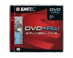 EMTEC DVD+RW - 1 stk, 4.7GB 12