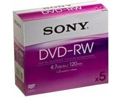SONY 5DMW47A - DVD-RW - 5-pak,