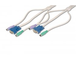 KVM Kabel, VGA, PS/2, Mus & Ke
