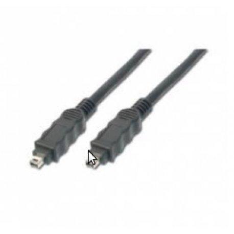 Firewire kabel 4-4 5,0m, sort