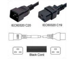 Strømforlængerkabel Sort C20 C