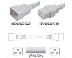 Strømforlængerkabel Hvid C20 C