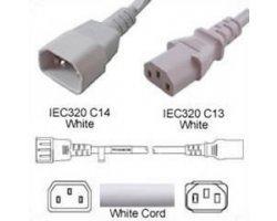 Forlænger Hvid C14 C13 0,5m