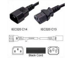 Strømforlængerkabel Sort C14 C
