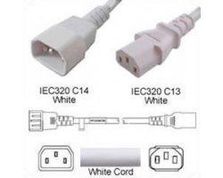 Forlænger Hvid C14 C13 2,5m