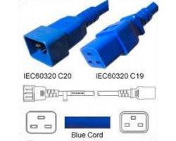 Strømforlængerkabel Blå C20 C1