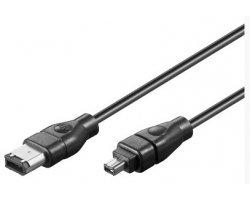 Firewire kabel 4-6 1,8 M, blac