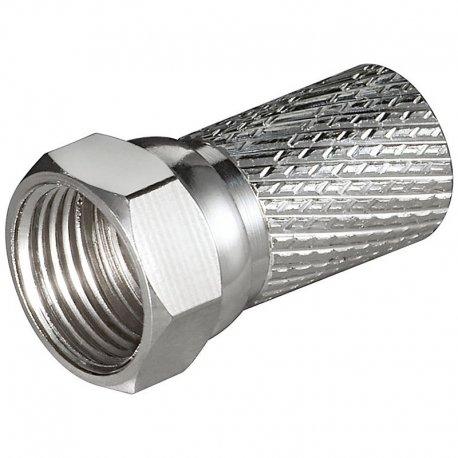 F-connector stik han, 7,0mm, B