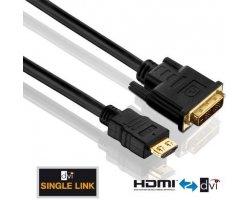 Purelink HDMI:DVI sort 1,0m
