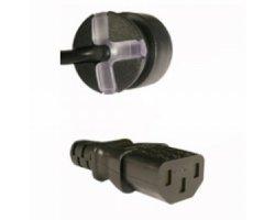 SmarTplug DK-kabel sort 1,8m