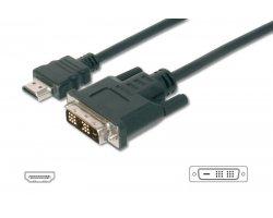 HDMI:DVI kabel sort 1,0m