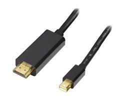 MiniDP:HDMI sort 1,0m