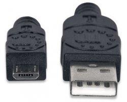 USB 2.0 kabel 0,50 m A han mic